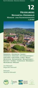 Wander- und Radwanderkarte 12: Heidelberg Neckartal-Odenwald