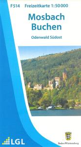 Topographische Freizeitkarte F 514, Naturpark Neckartal-Odenwald