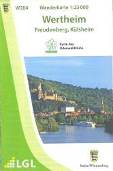 Wanderkarte Wertheim W204
